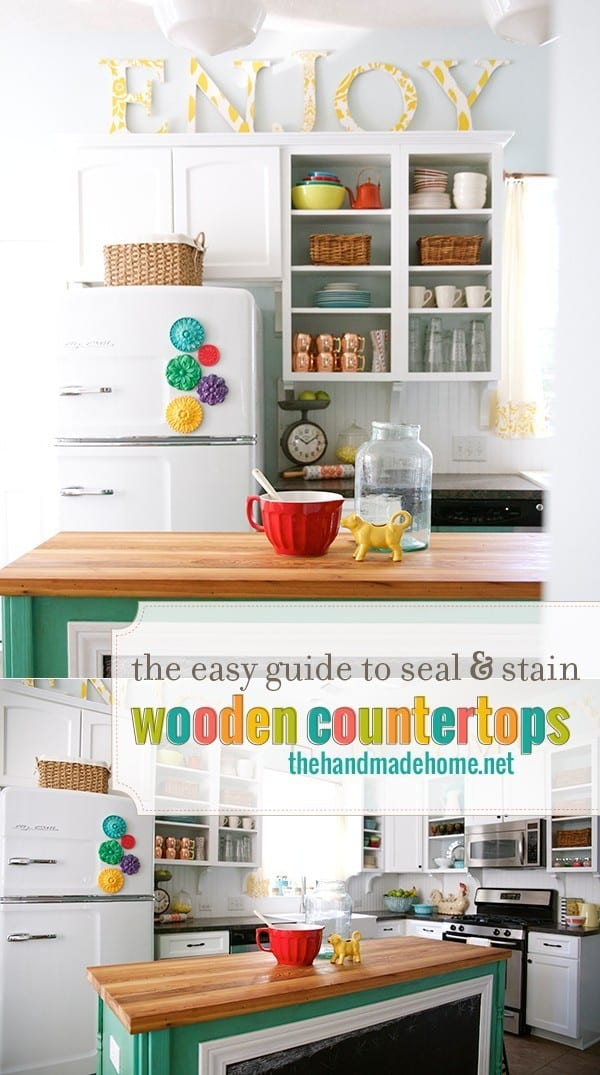How To Seal Amp Stain Wooden Countertops The Handmade Home