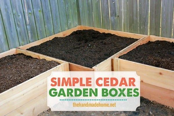 Make your own garden box fence the handmade home for Cedar garden box designs