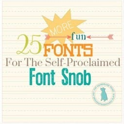 font snob club {may 2015}