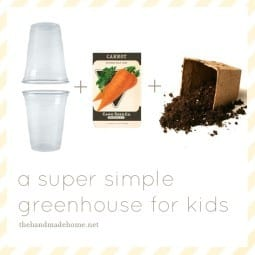 a super simple greenhouse for kids