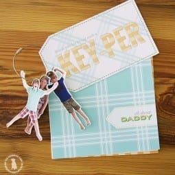 easy fathers day gift {printables and custom keychains}