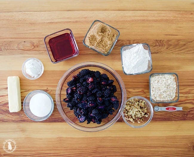 Blackberry cobbler recipe - ingredients