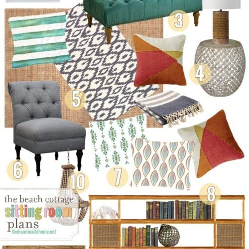 the beach cottage: sitting room plans