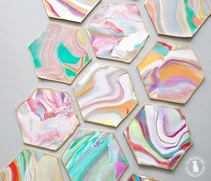 hexagon_coasters_marbelized