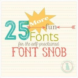the font snob club {september 2015}