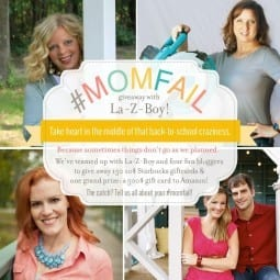 #momfail {a la-z-boy back to school giveaway}