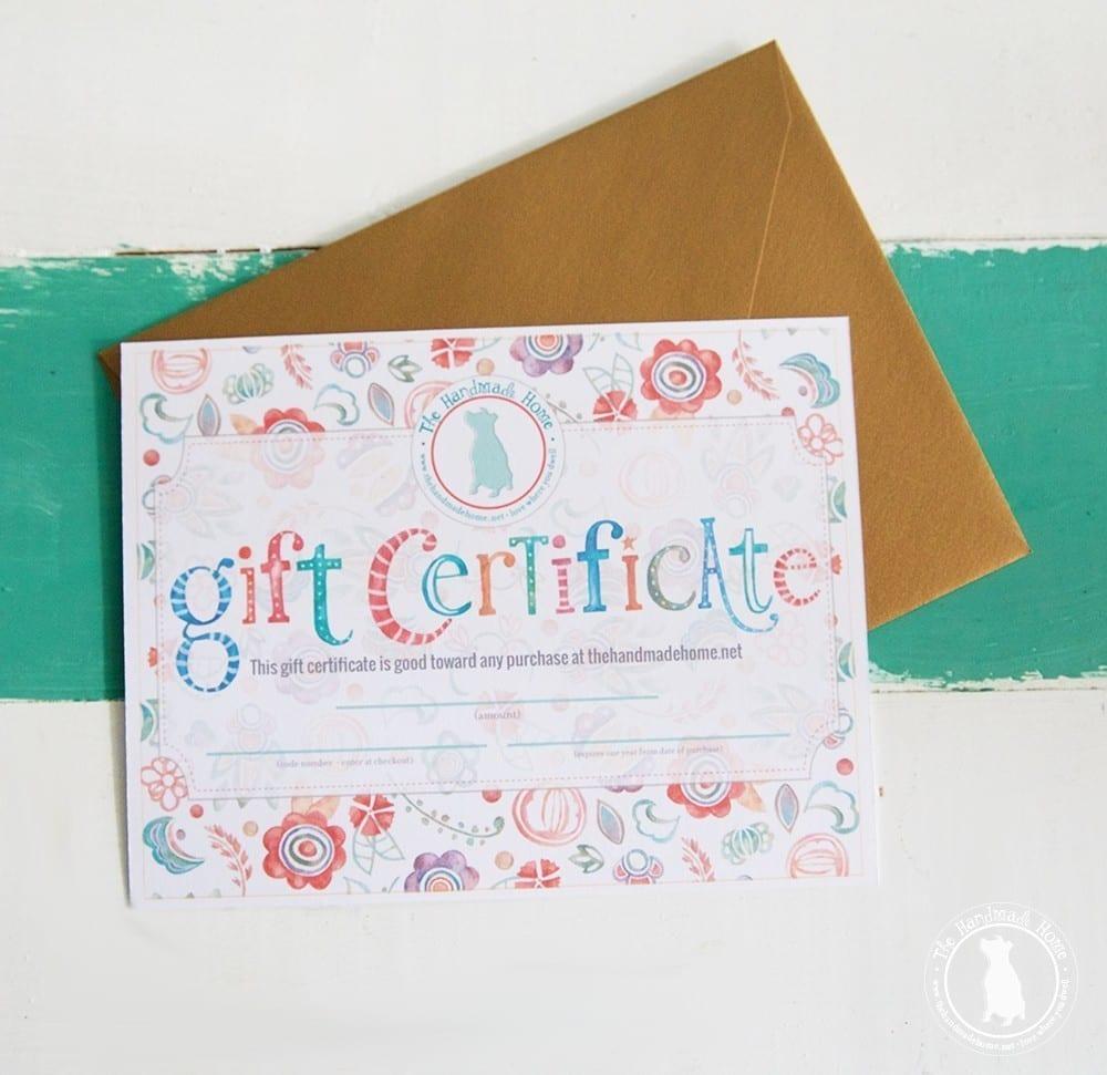 The Handmade Home Gift Cards The Handmade Home