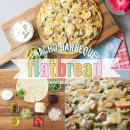 nacho barbecue flatbread