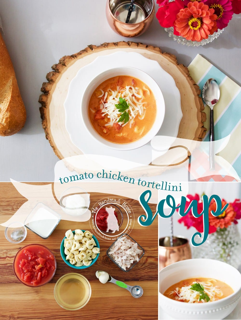 Tomato Chicken Tortellini Soup Recipe