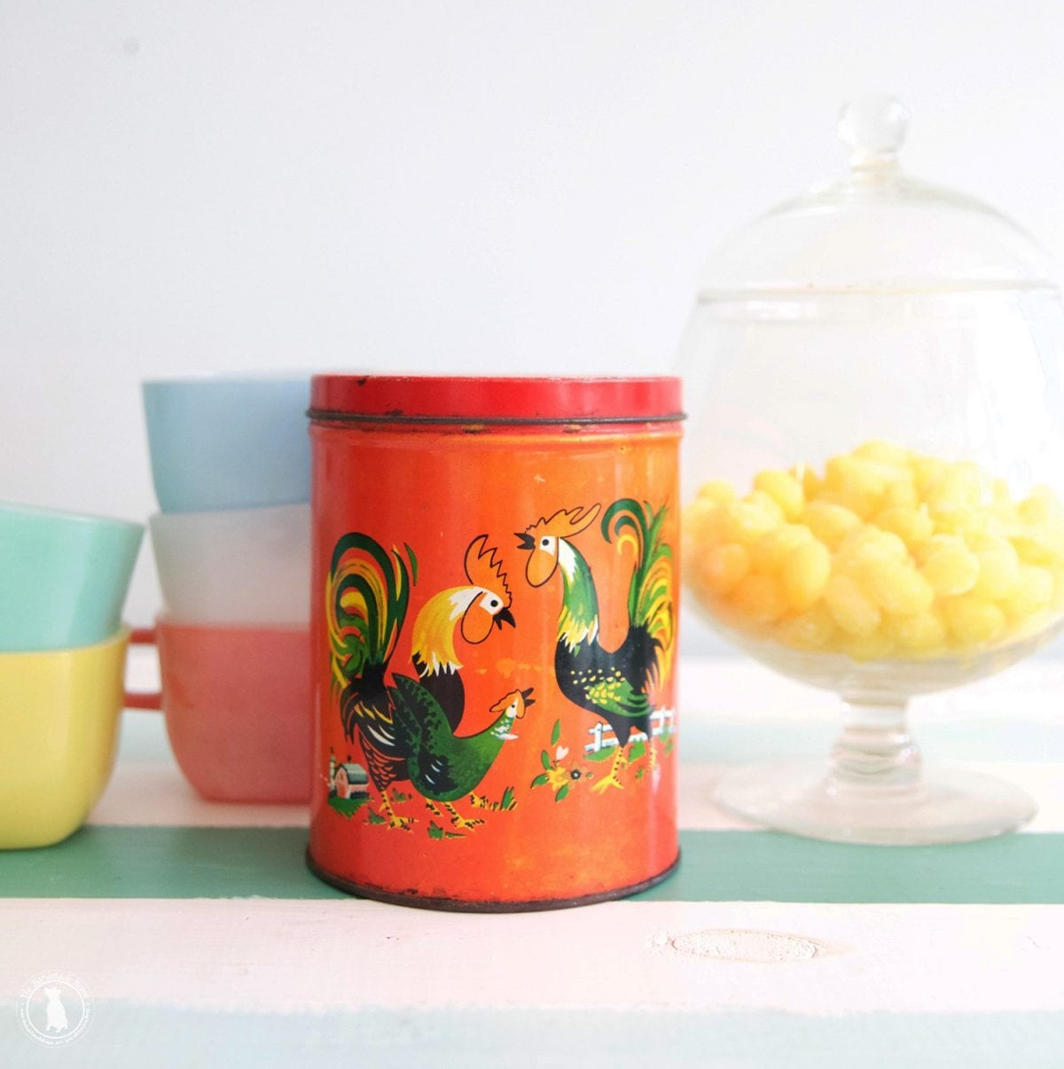 rowdy the rooster kitchen canister the handmade home rooster country french hand painted 4 piece square