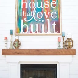 anchoring a space {and how to build a mantel}