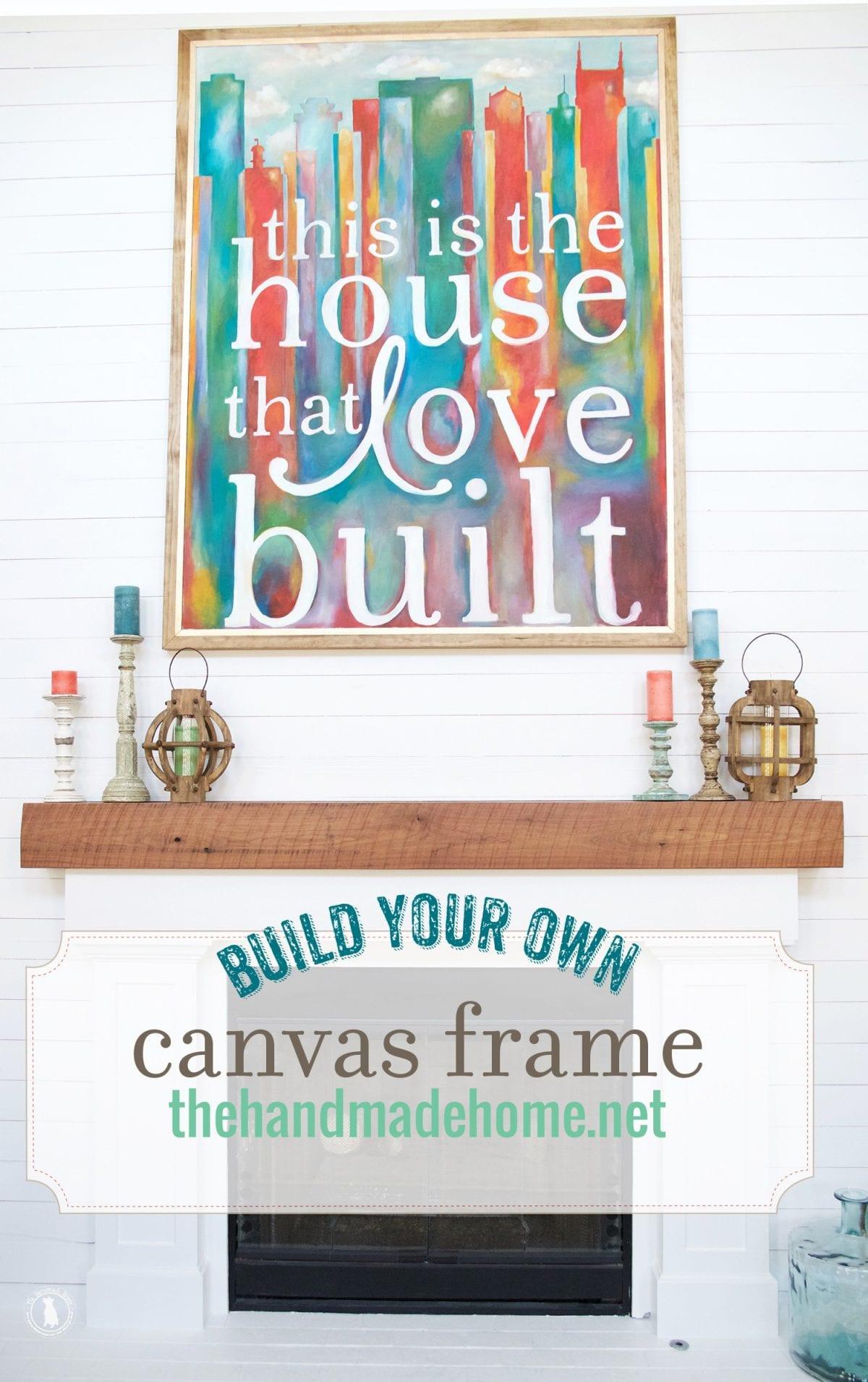 how to build a border frame - The Handmade Home