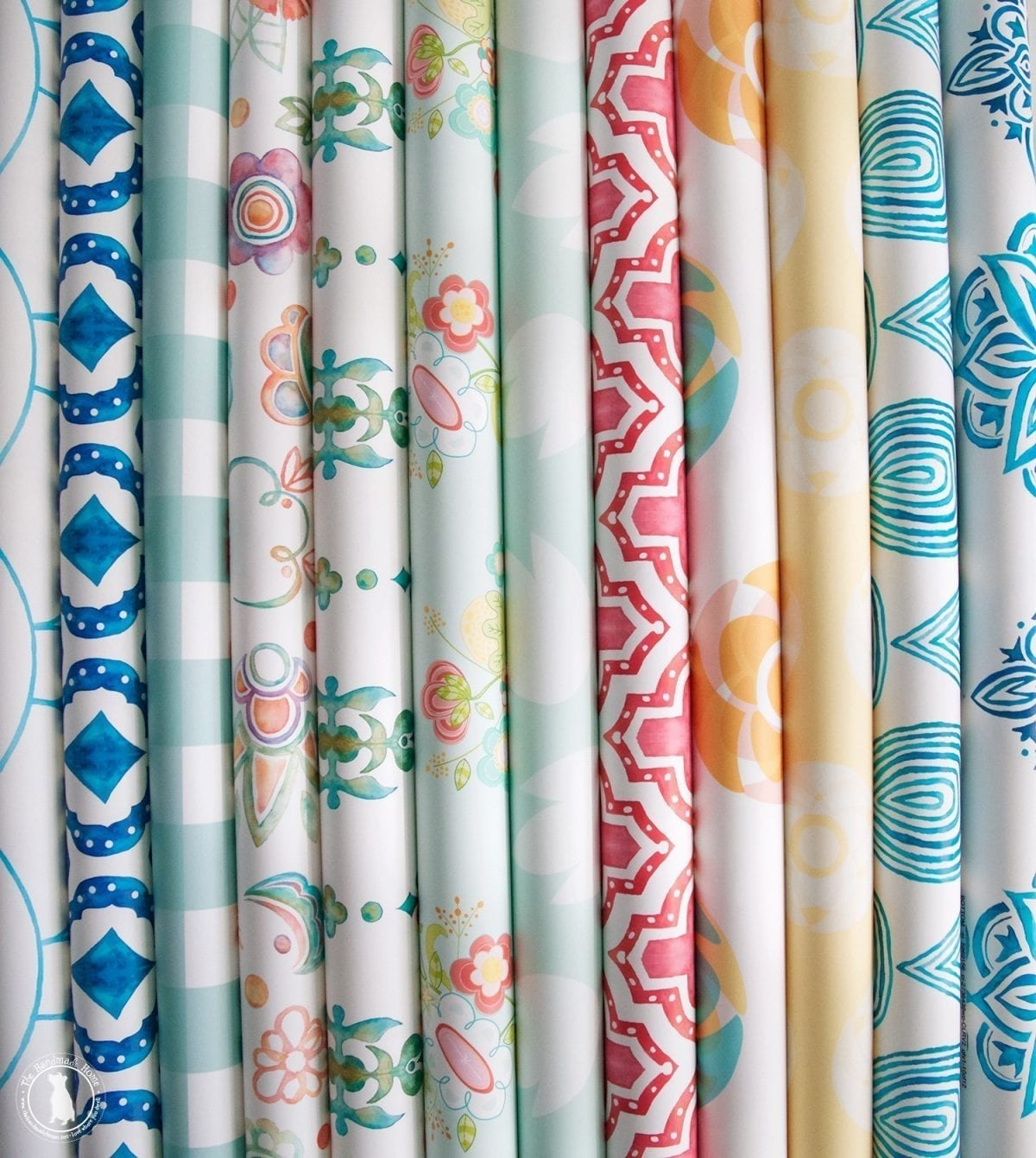 Spring fabric wallpaper sale the handmade home for Wallpaper rolls for sale