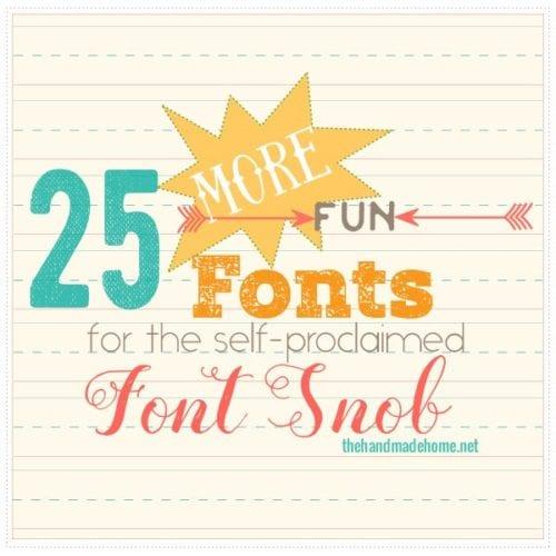 the font snob club {may 2016}