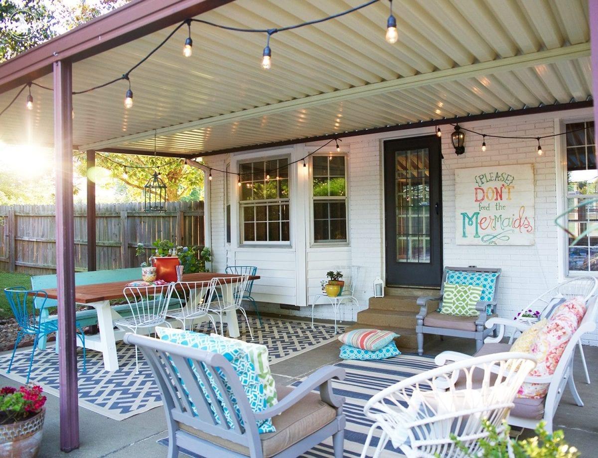 Back Porch Makeover The Handmade Home