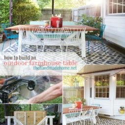 how to build an outdoor farmhouse table