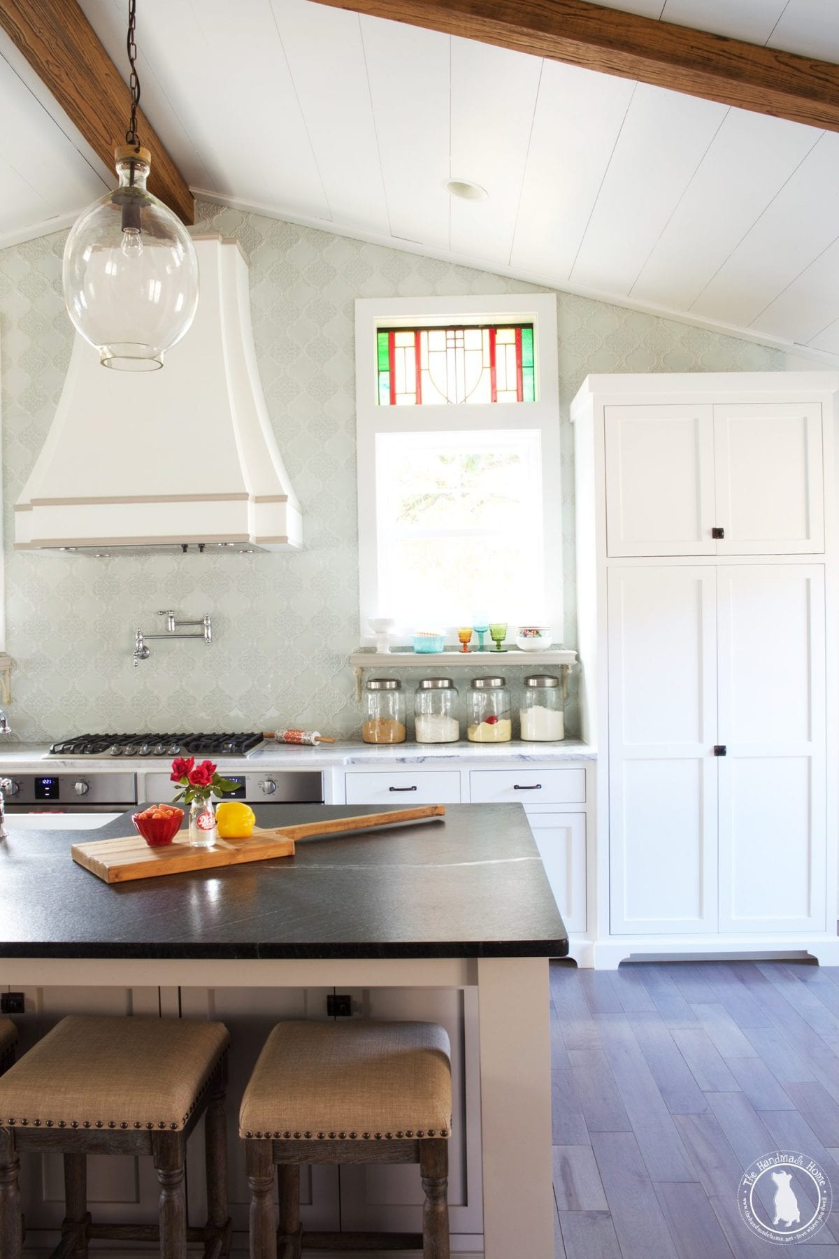 Cool Update We uve been living with our kitchen marble countertops for over six months now and love them Be sure to check out the entire rehabbed area here