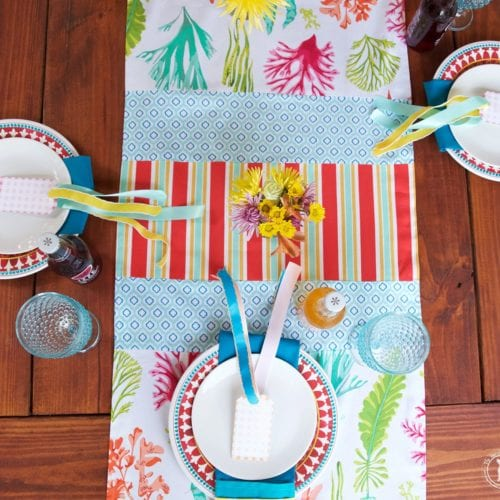 how to sew your own patchwork table runner