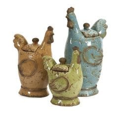 lidded roosters