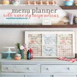 diy menu planner with waverly inspirations