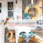 how to make an owl wreath