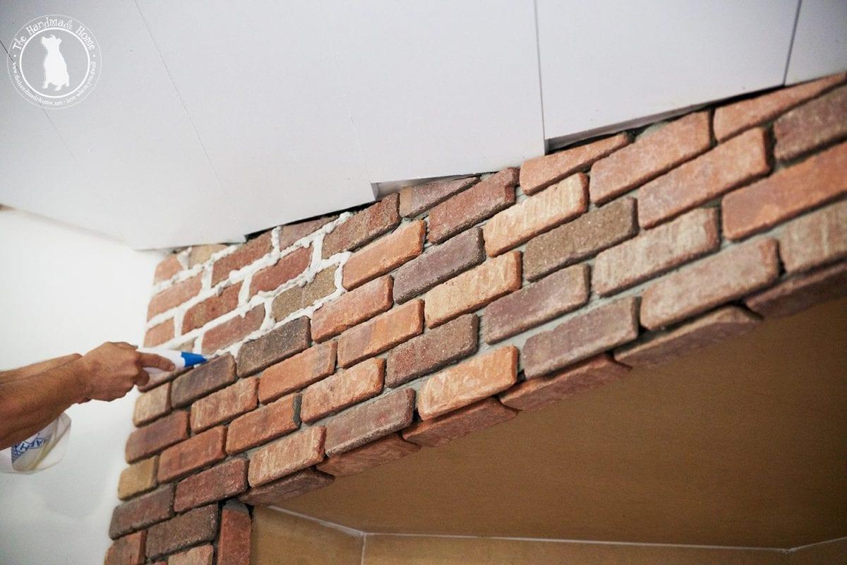 Masonry Fire Brick Mortars : How to mortar rub brick on a fireplace the handmade home