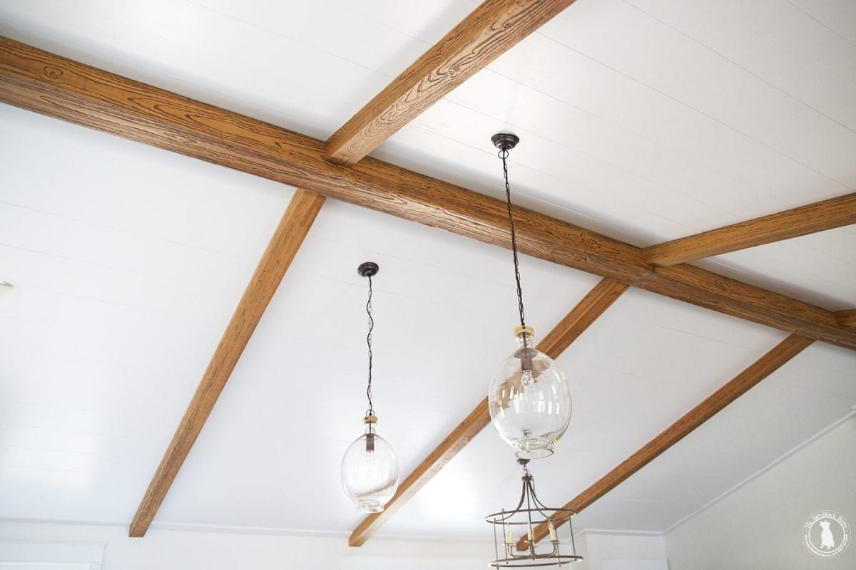 Kitchen sources the handmade home for Fake wood beams for ceiling