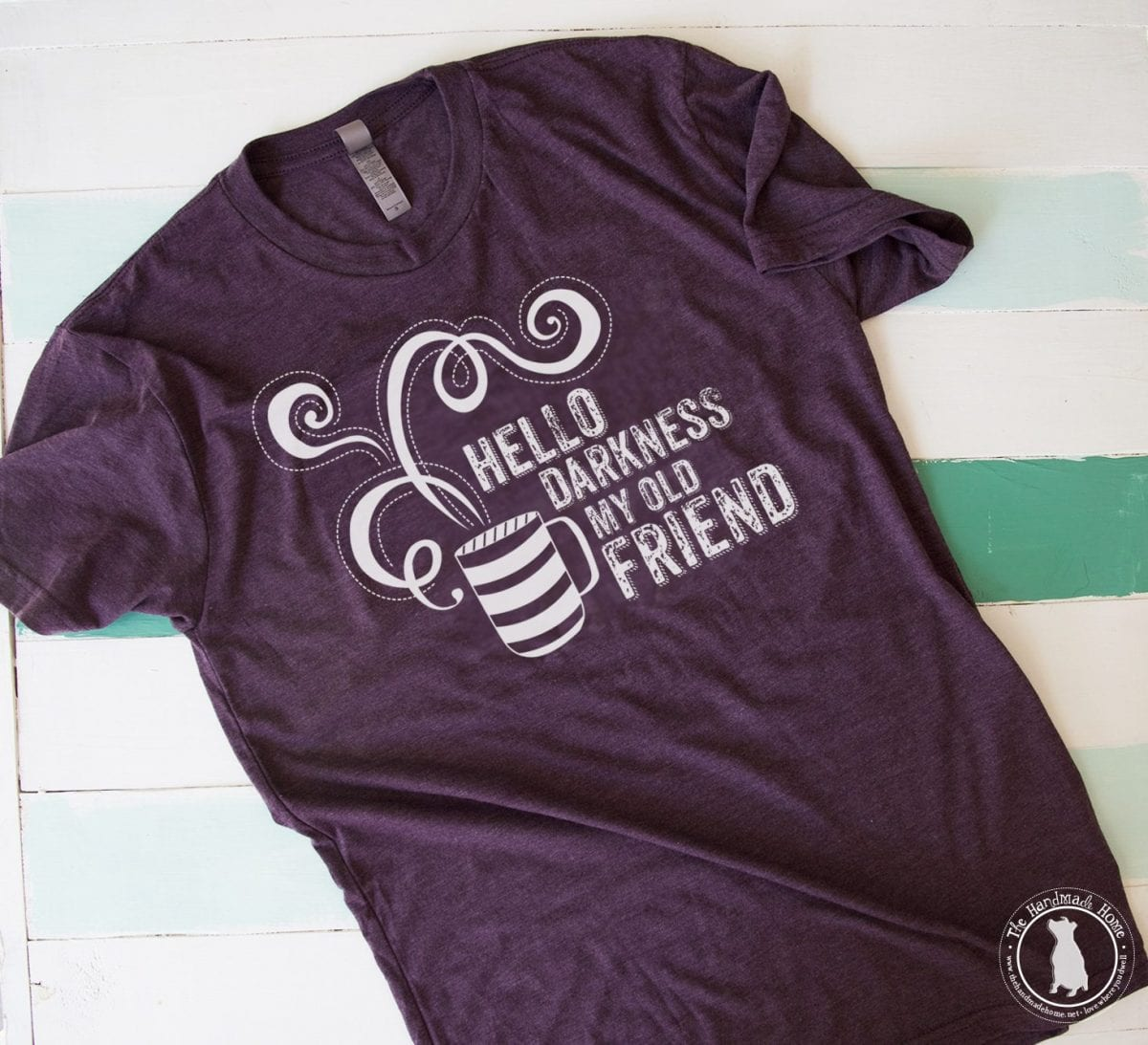 hello darkness my old friend t shirt the handmade home. Black Bedroom Furniture Sets. Home Design Ideas