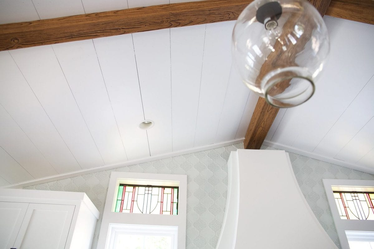 how to shiplap your ceilings - finished