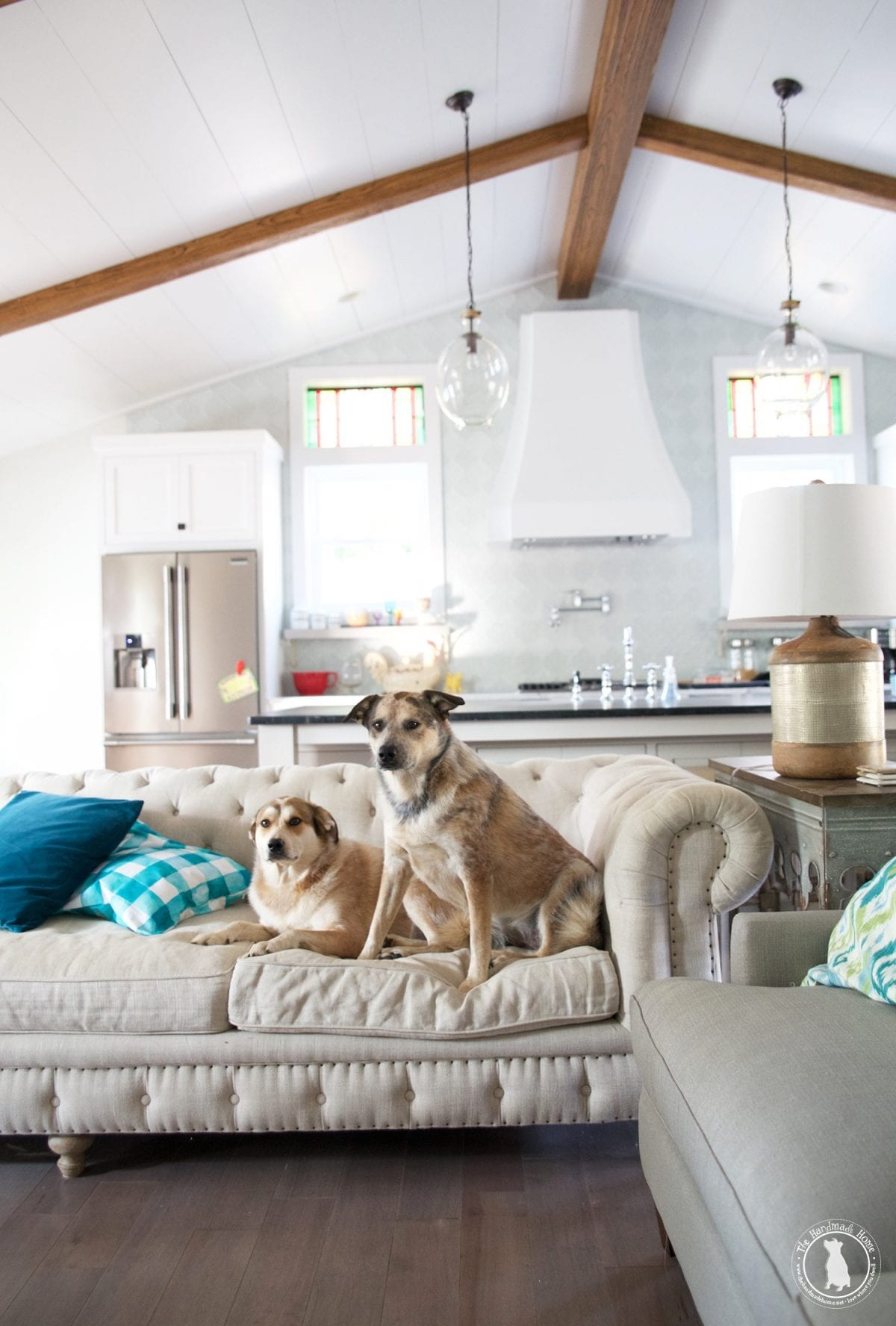 How to shiplap your ceilings the handmade home Shiplap tray ceiling