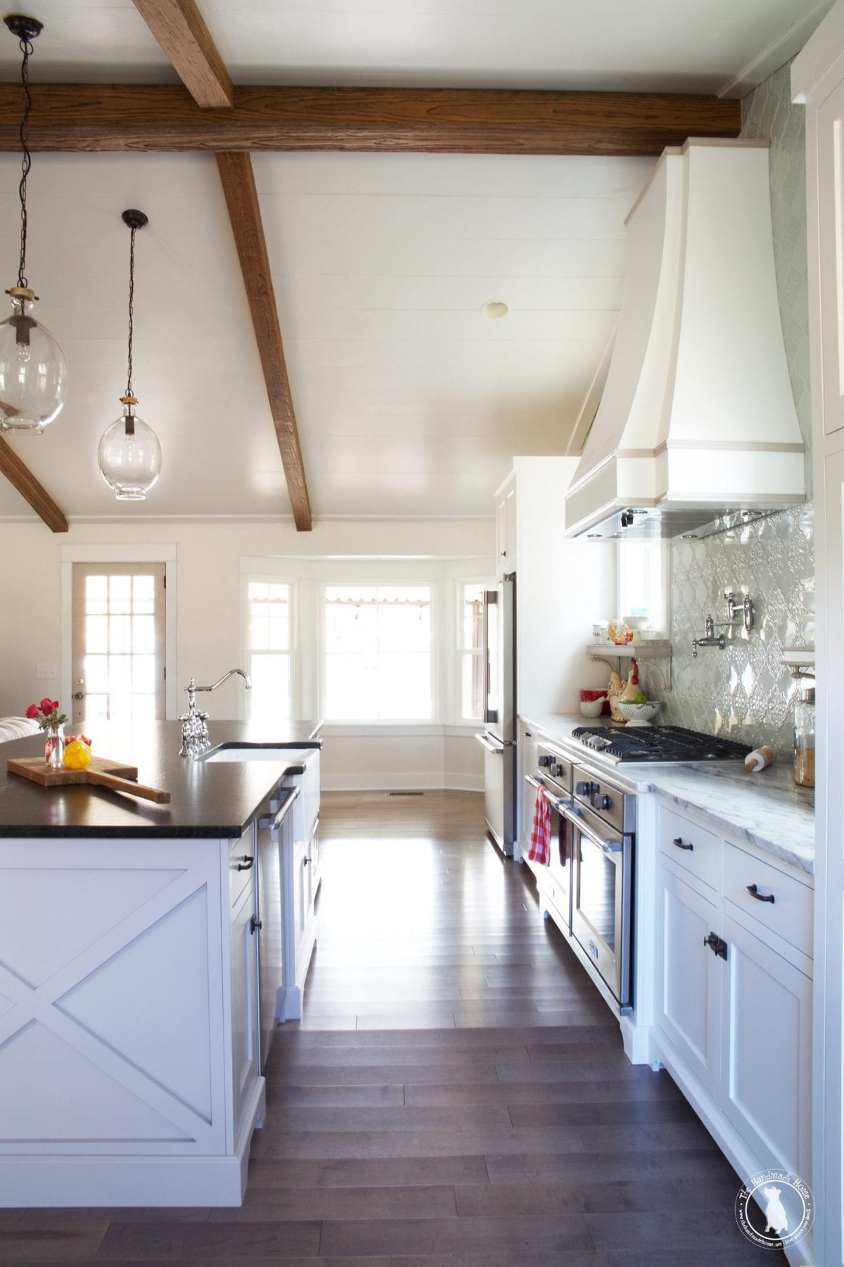 how to shiplap your ceilings - after kitchen