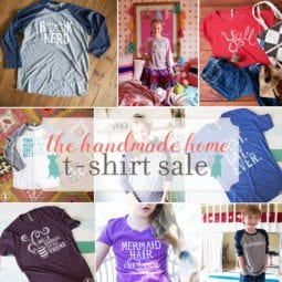 the handmade home t-shirt sale