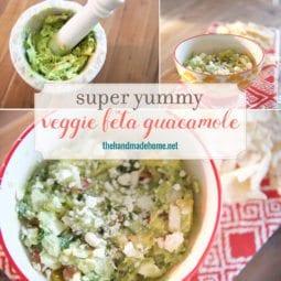veggie feta guacamole
