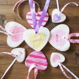 diy valentines gift toppers