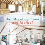 faq's of renovation: reality check