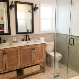 a bathroom refresh – client before and after