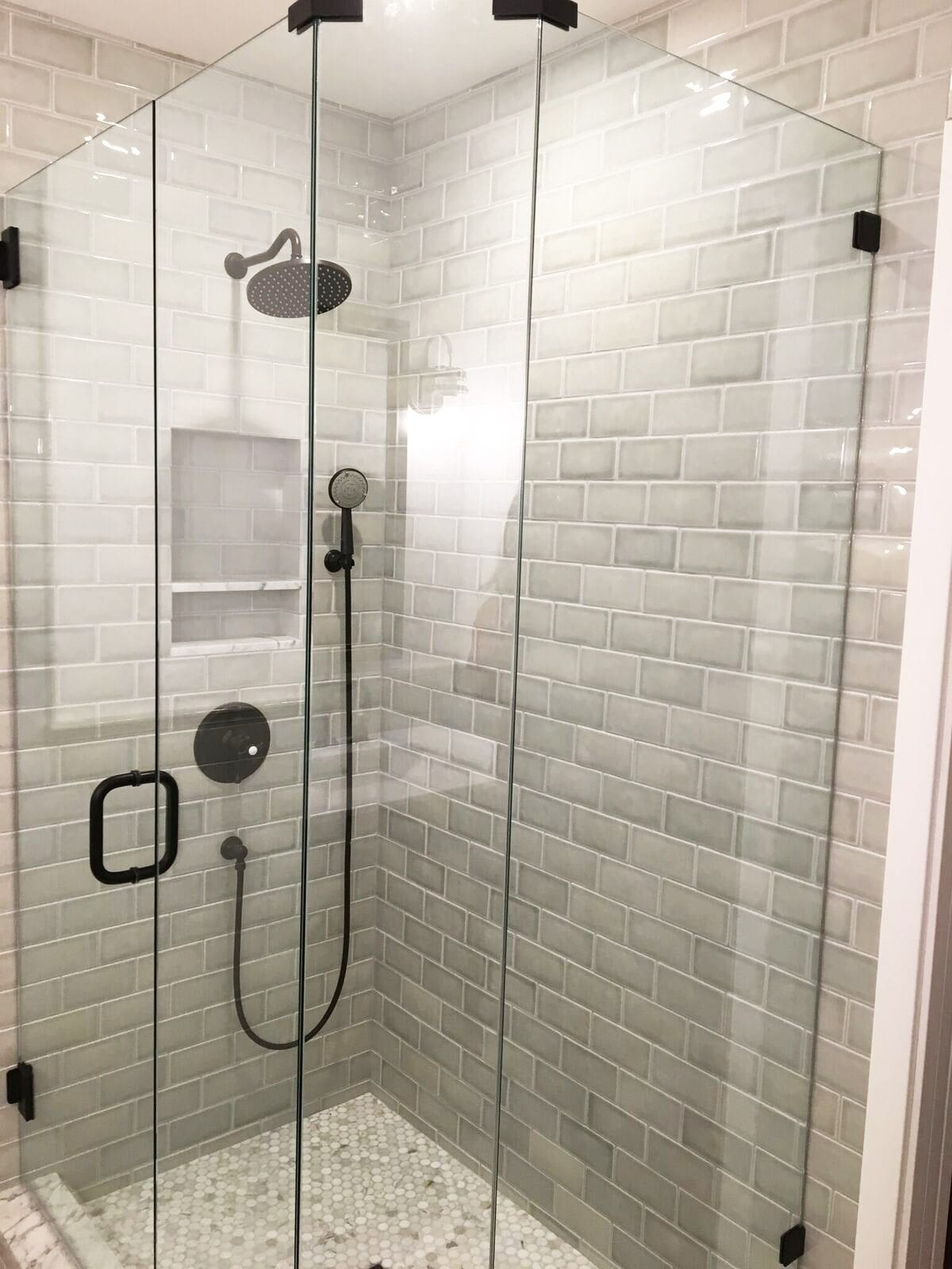a bathroom refresh - client before and after - The Handmade Home