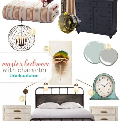 a master bedroom with character
