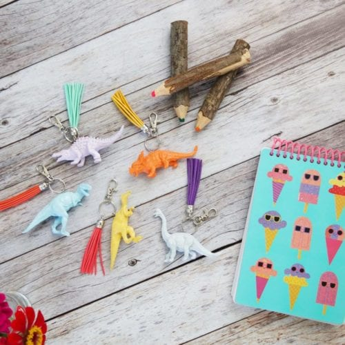 make your own dinosaur keychain
