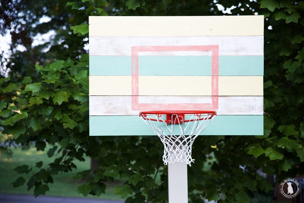 how to build a basketball goal paint it with frogtape