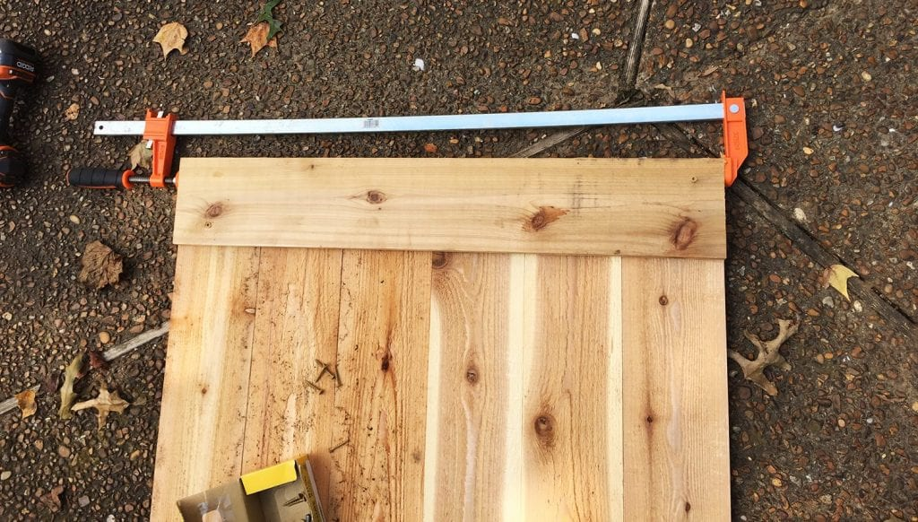 how to build a basketball goal - building the backboard
