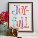 joy-full print freebie