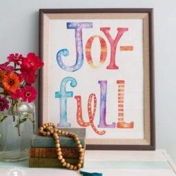 joy-full print freebie