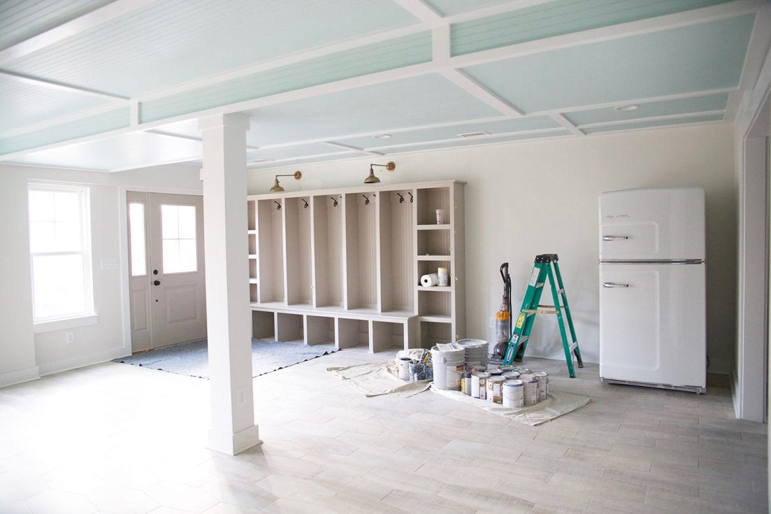 Basement progress this house is clean the handmade home for Ample storage space
