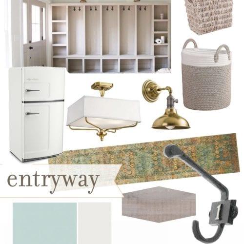 basement progress – entryway design plans