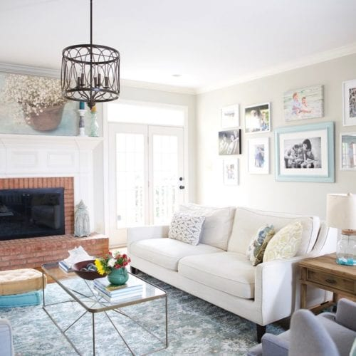 family room reveal