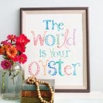 the world is your oyster freebie