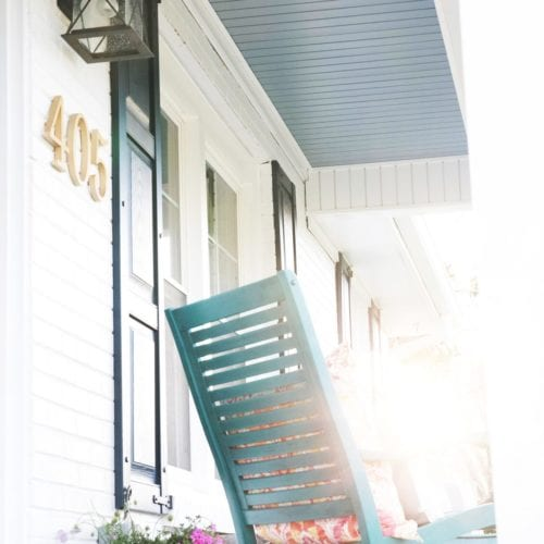 how to install numbers on your front porch {with dropcap studio!}