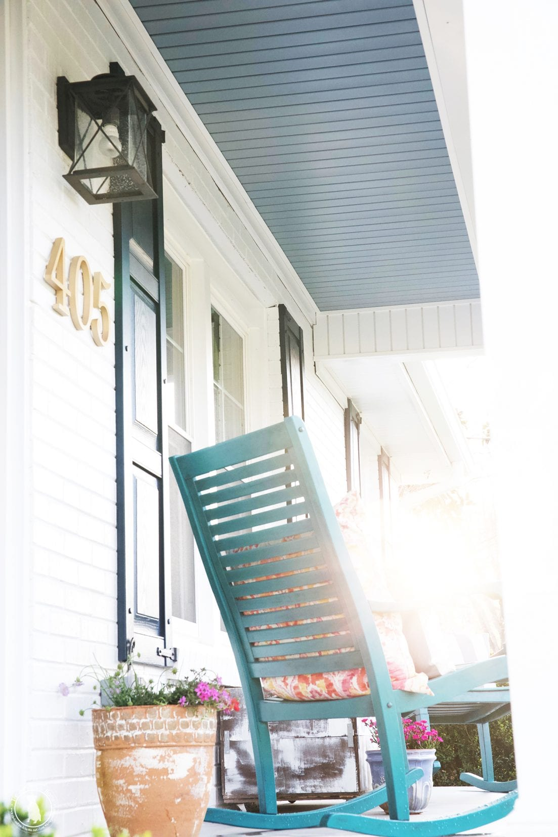 tips for creating an outdoor space - front porch