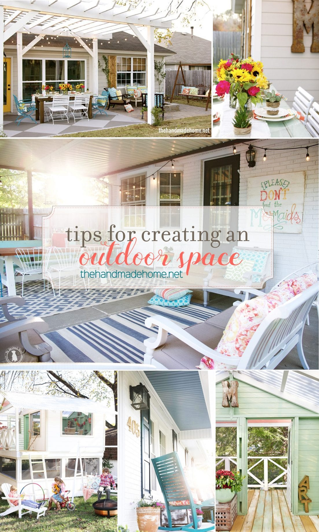 tips for creating an outdoor space